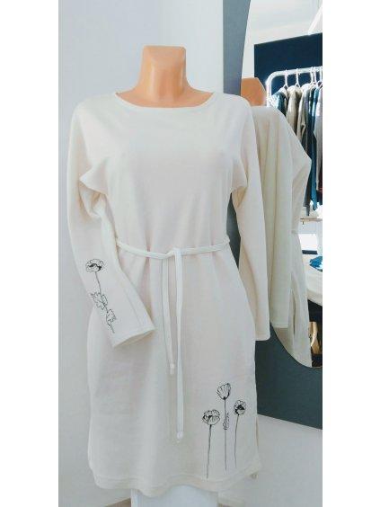 Dámské šaty BIO bavlna potisk Divoké Máky