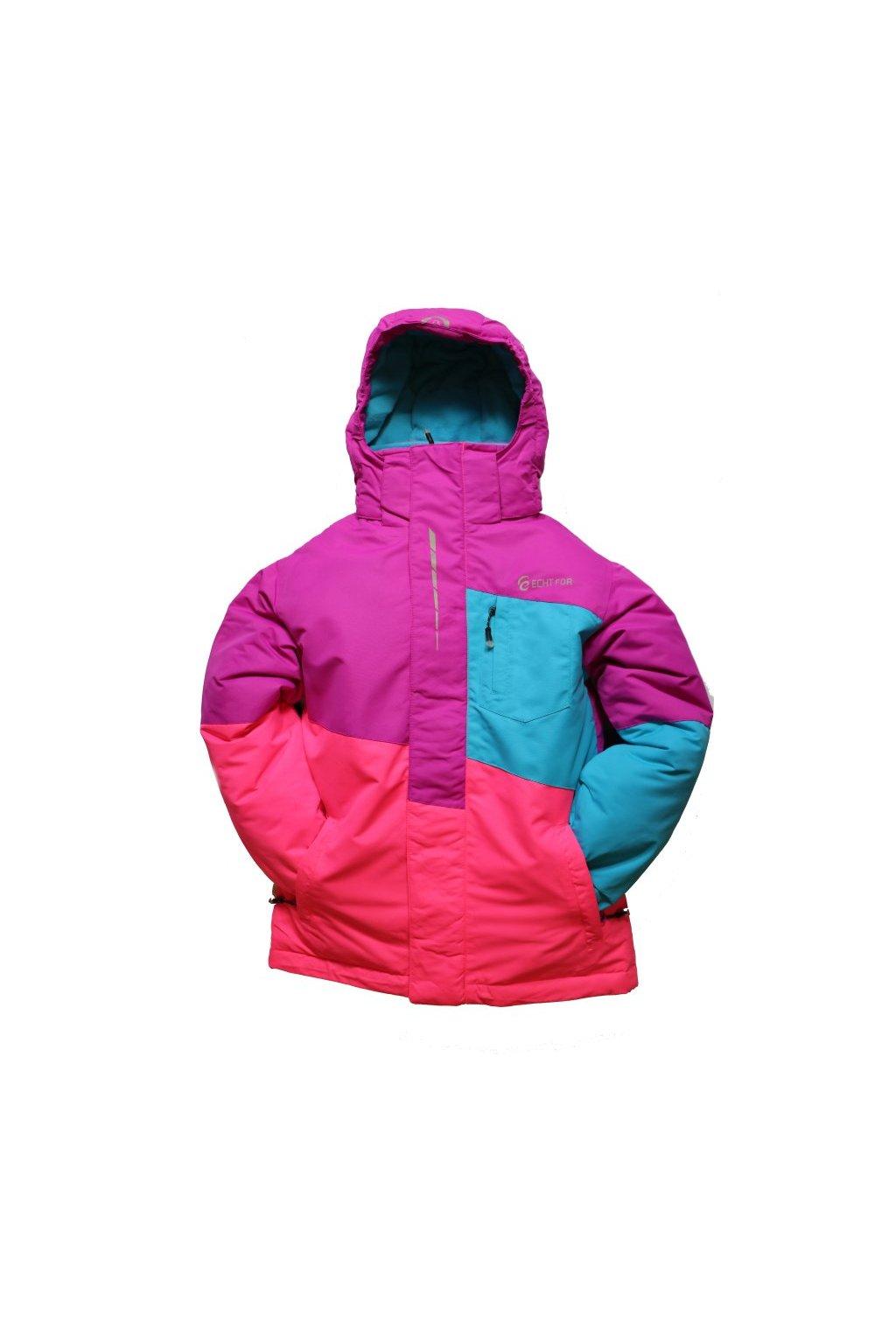 Dětská zimní bunda HA03-M2 fialová vel. 134-164 cm