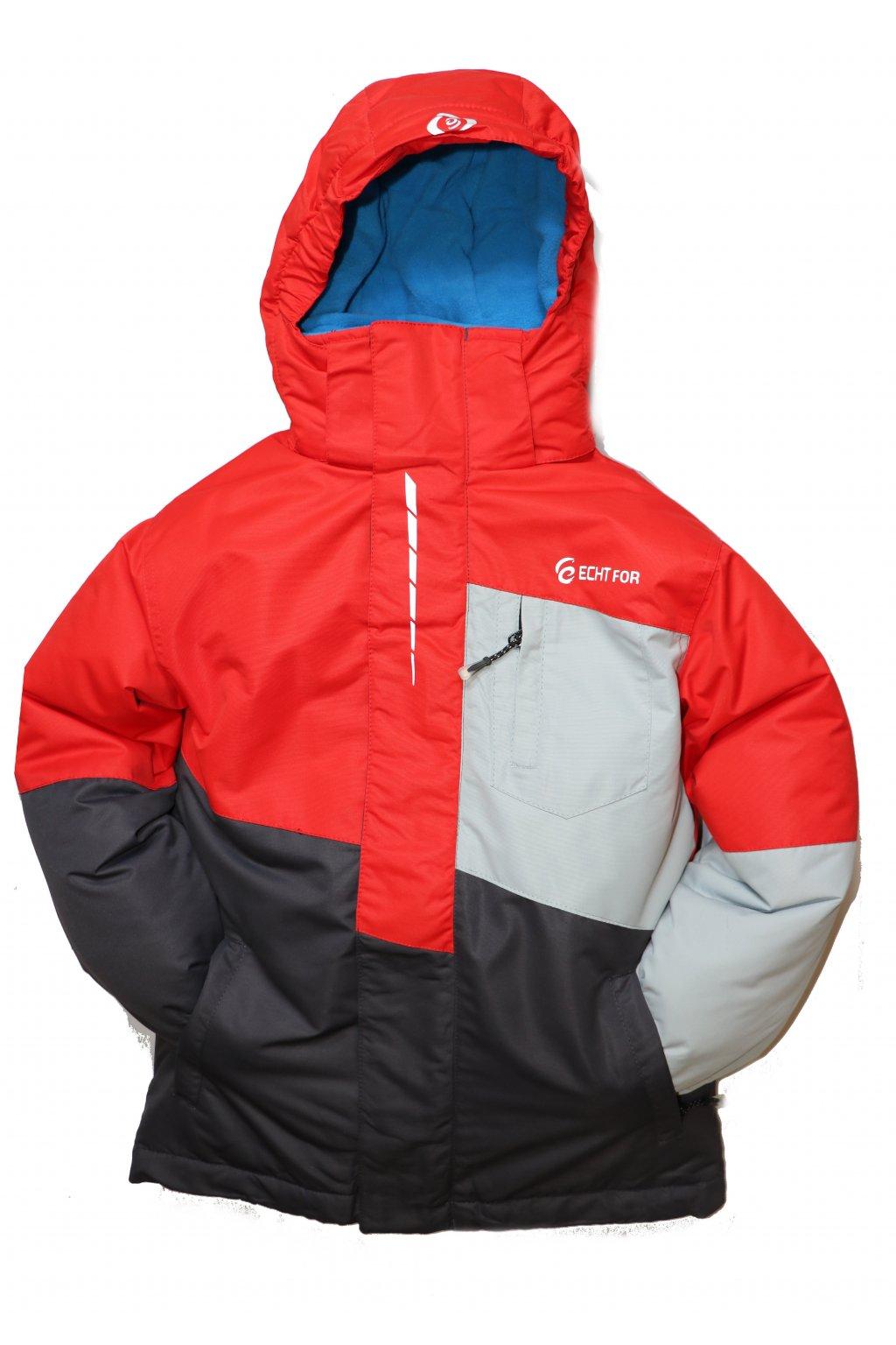 Dětská zimní bunda HA03-M2 červená vel. 134-164 cm