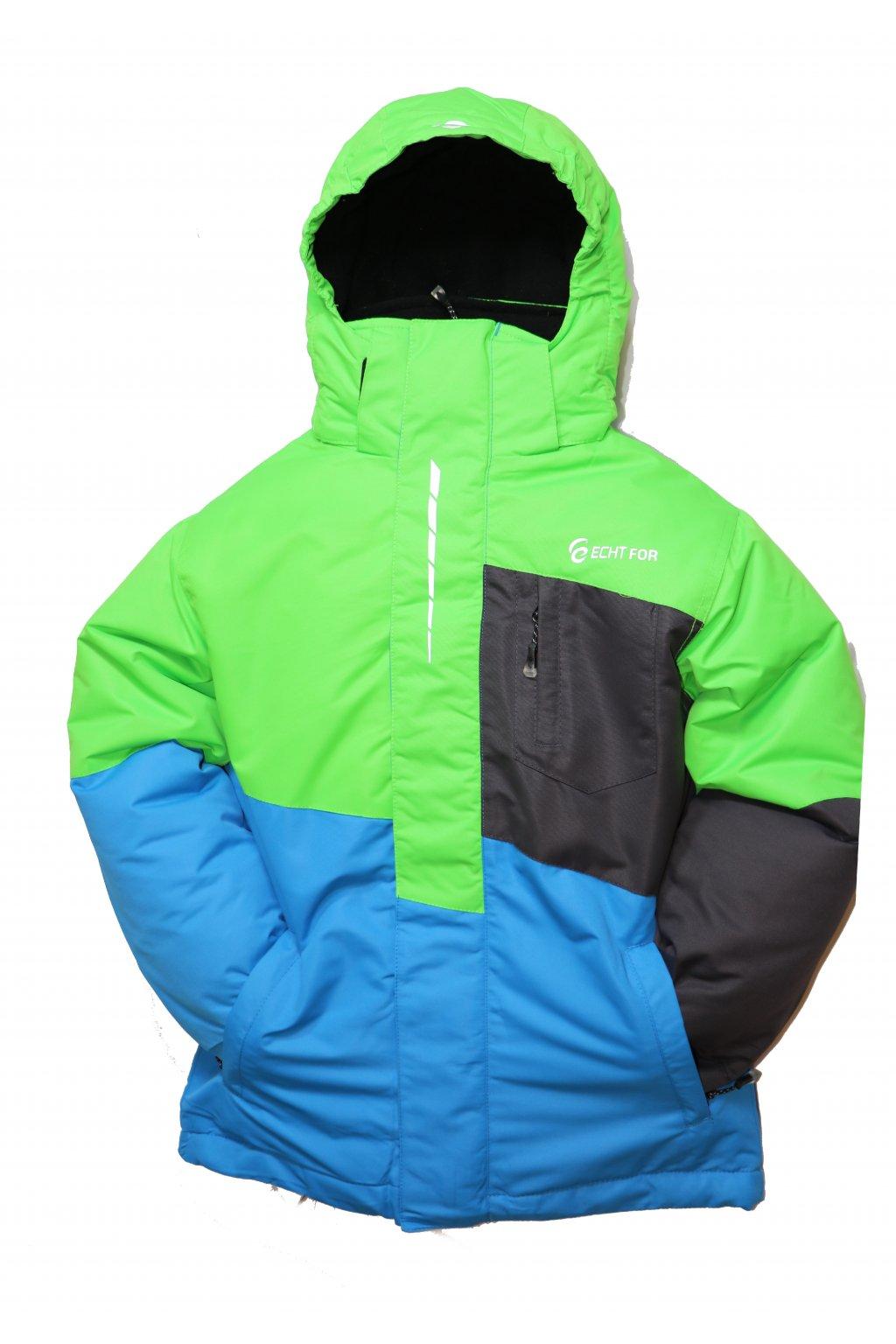 Dětská zimní bunda HA03-M2 zelená vel. 134-164 cm
