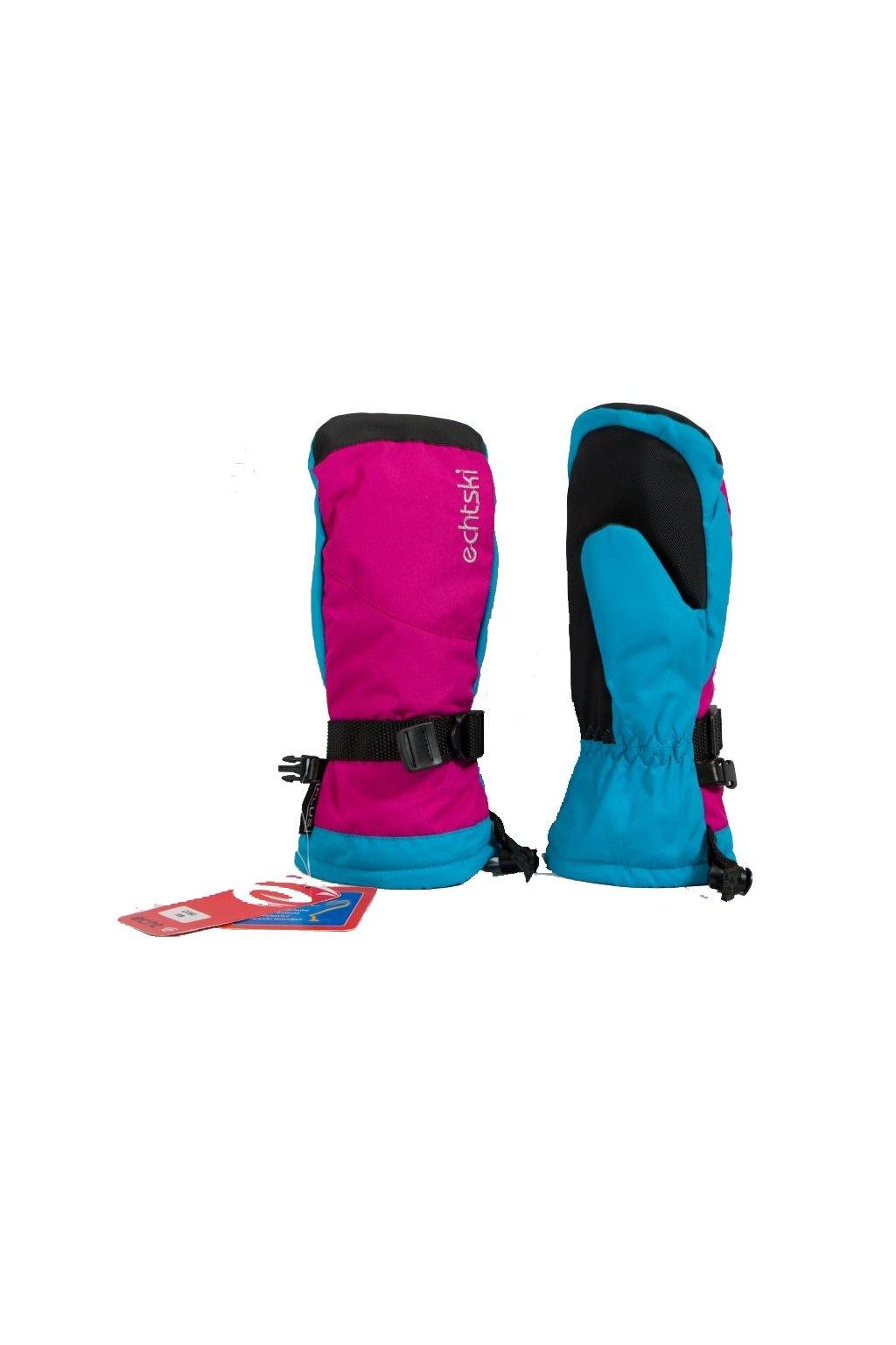 Dětské lyžařské palčáky C080 růžovo-modrá