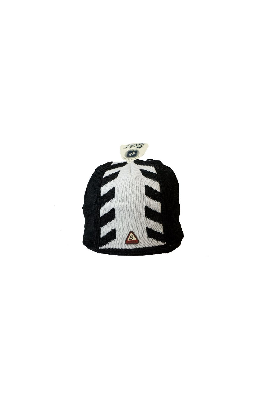 Pánská čepice F062 černo-bílá