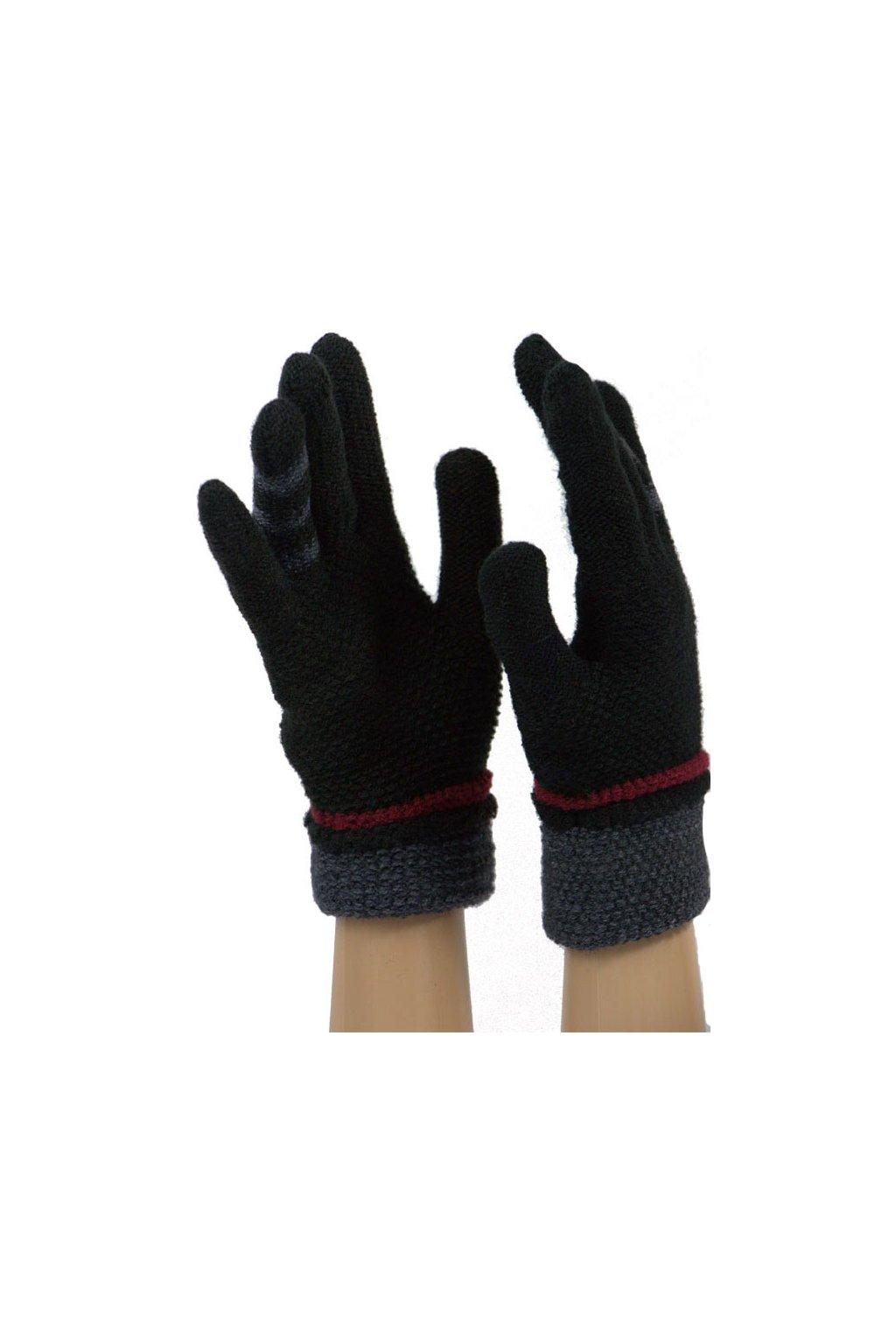 Dámské dotykové pletené rukavice JKB-123