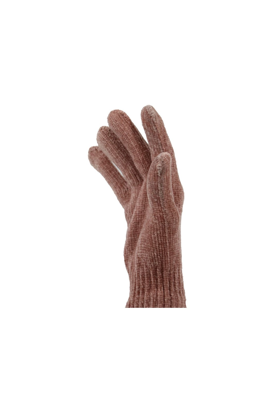 Dámské pletené rukavice MSB003 růžová