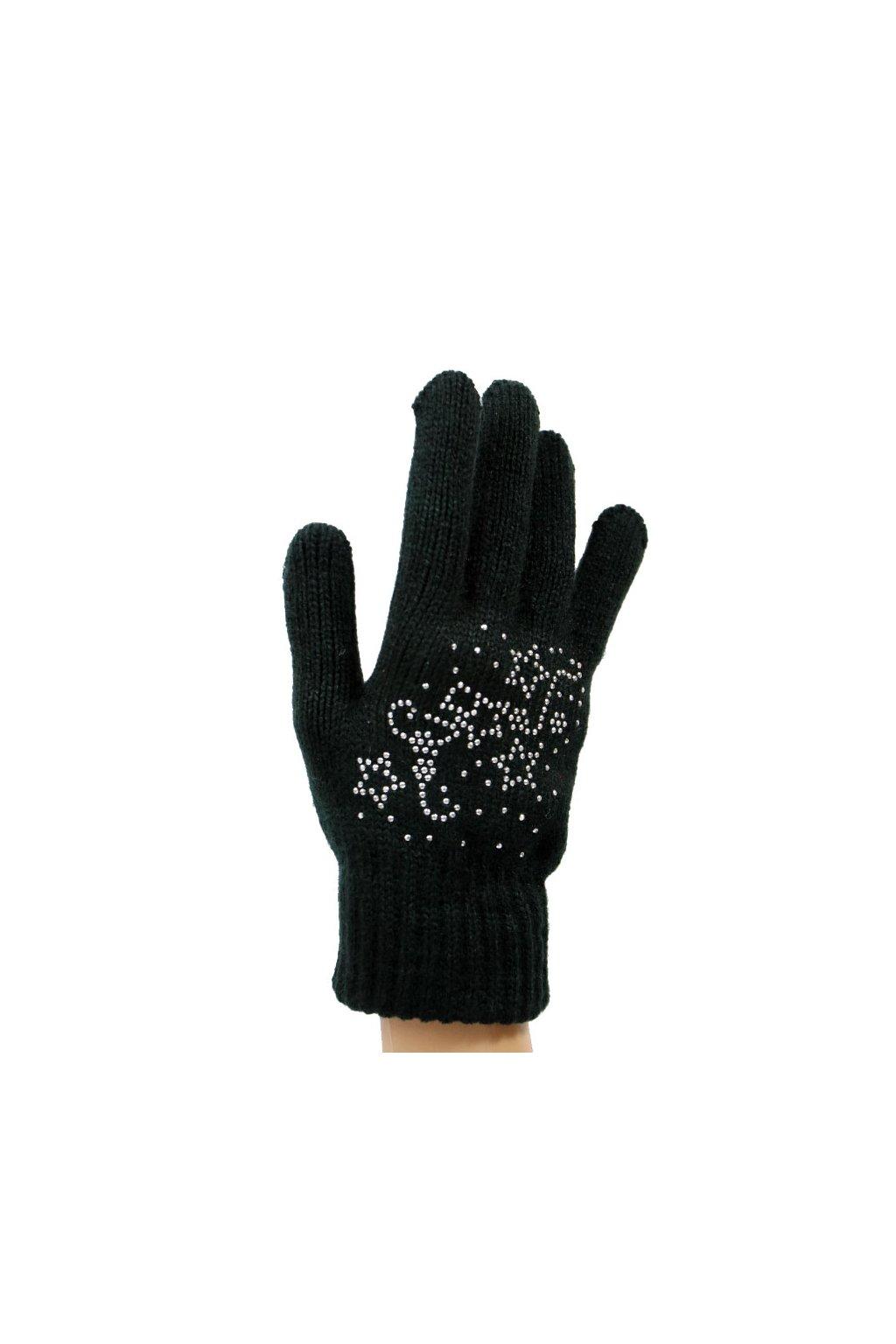 Dámské dotykové pletené rukavice MSB004 černá