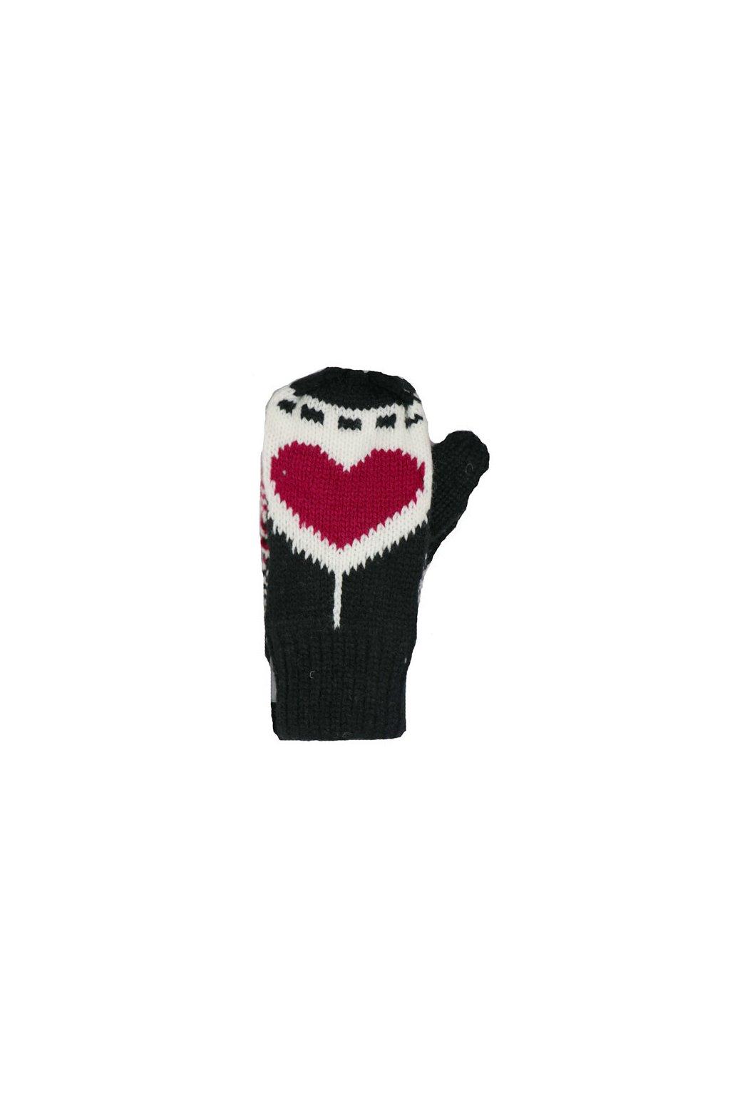 Dětské pletené palcové rukavice C020