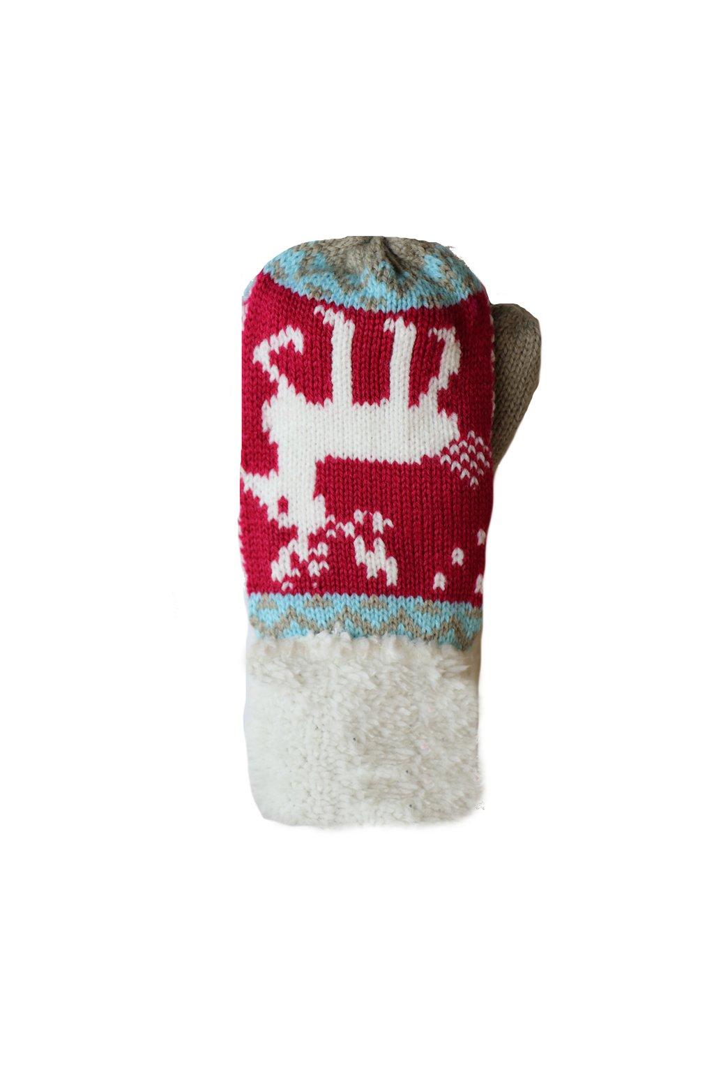 Dětské pletené palcové rukavice C025