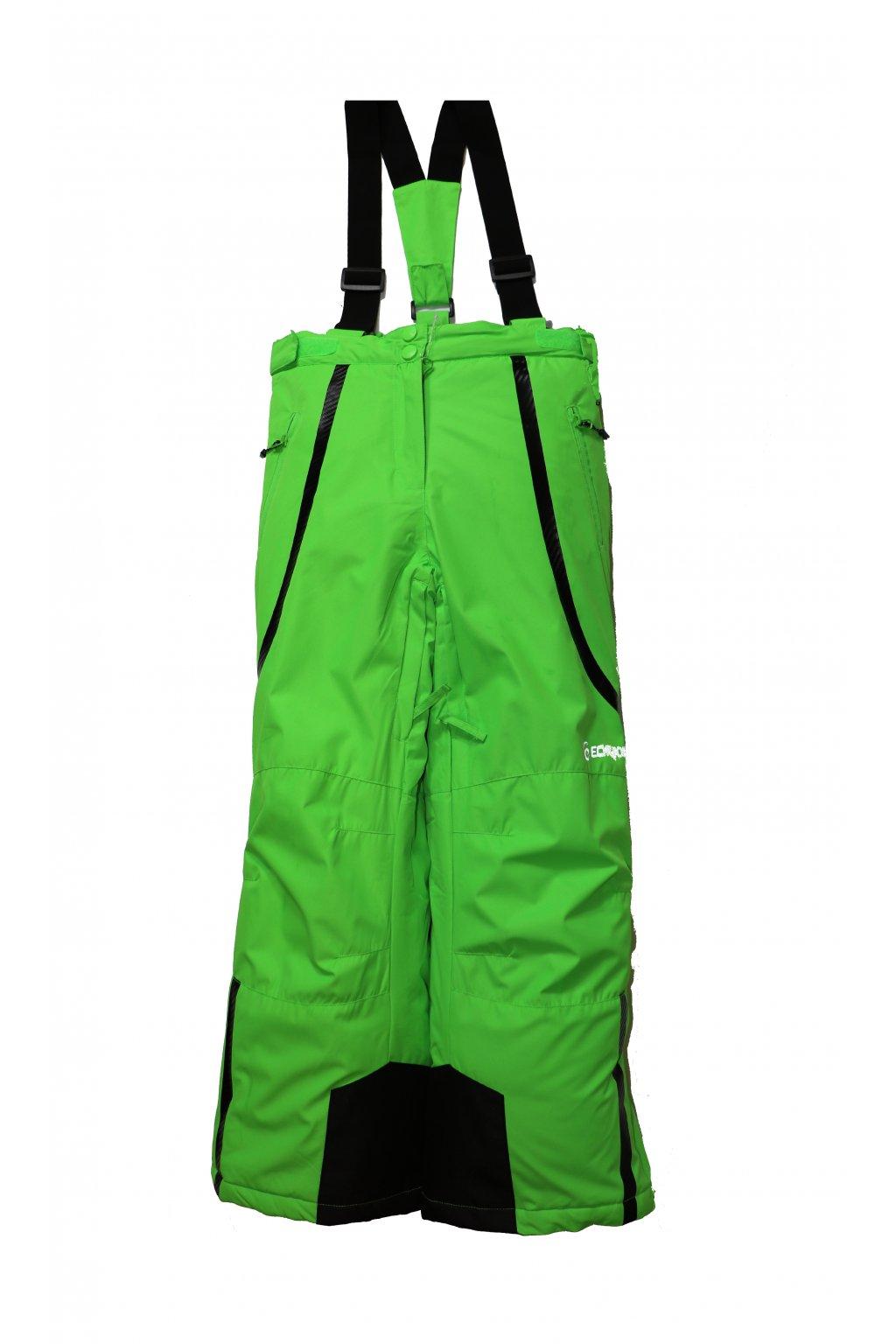 Dětské lyžařské kalhoty HB01-M1 zelená