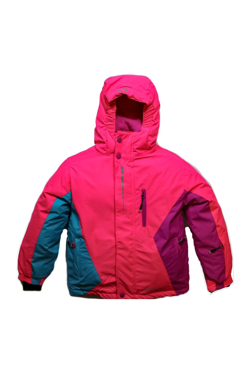 Dětská zimní bunda HA02-M1 růžová vel. 104-134 cm