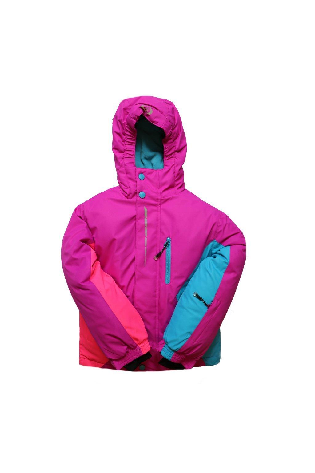 Dětská zimní bunda HA02-M1 fialová vel. 104-134 cm