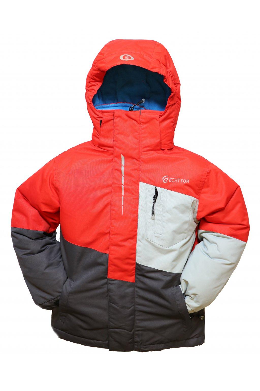 Dětská lyžařská bunda HA03-M1 červená vel. 134-164 cm