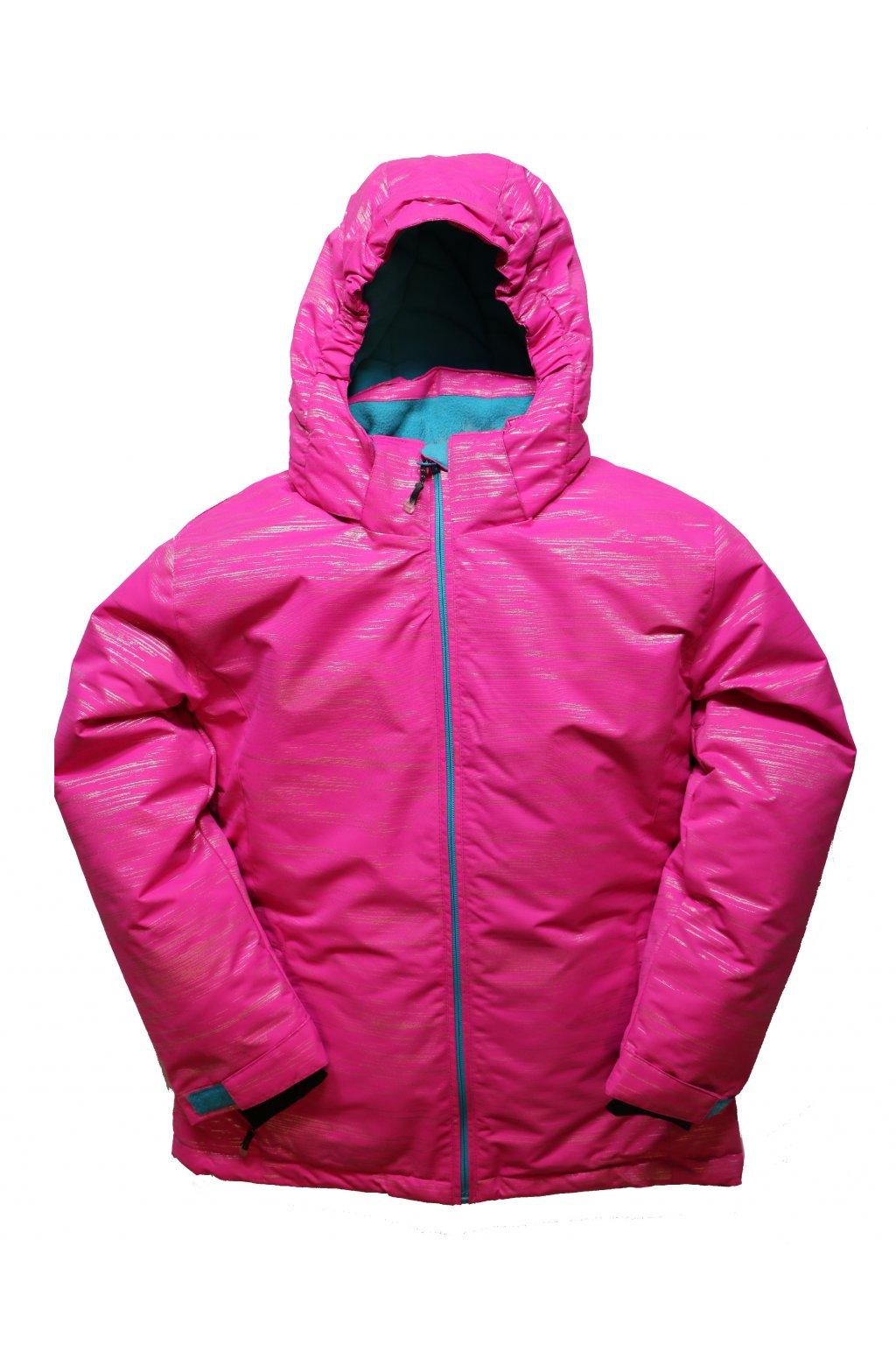 Dětská zimní bunda volného střihu HA04-M2 růžová vel. 134-164 cm