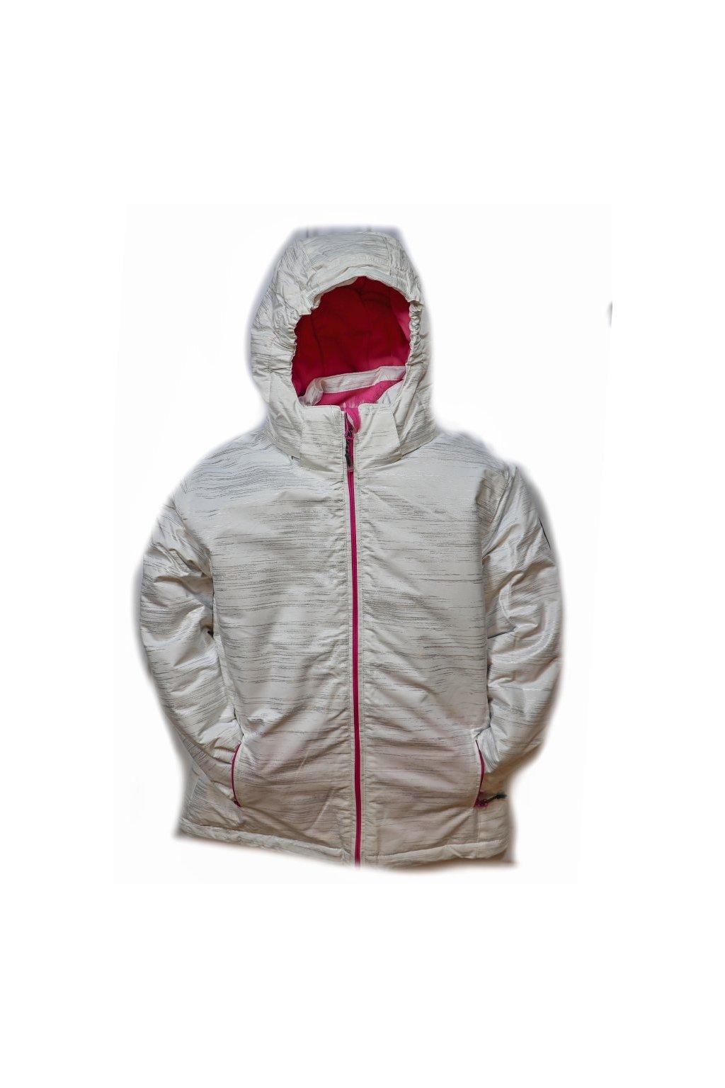 Dětská zimní bunda volného střihu HA04-M2 bílá vel. 134-164 cm