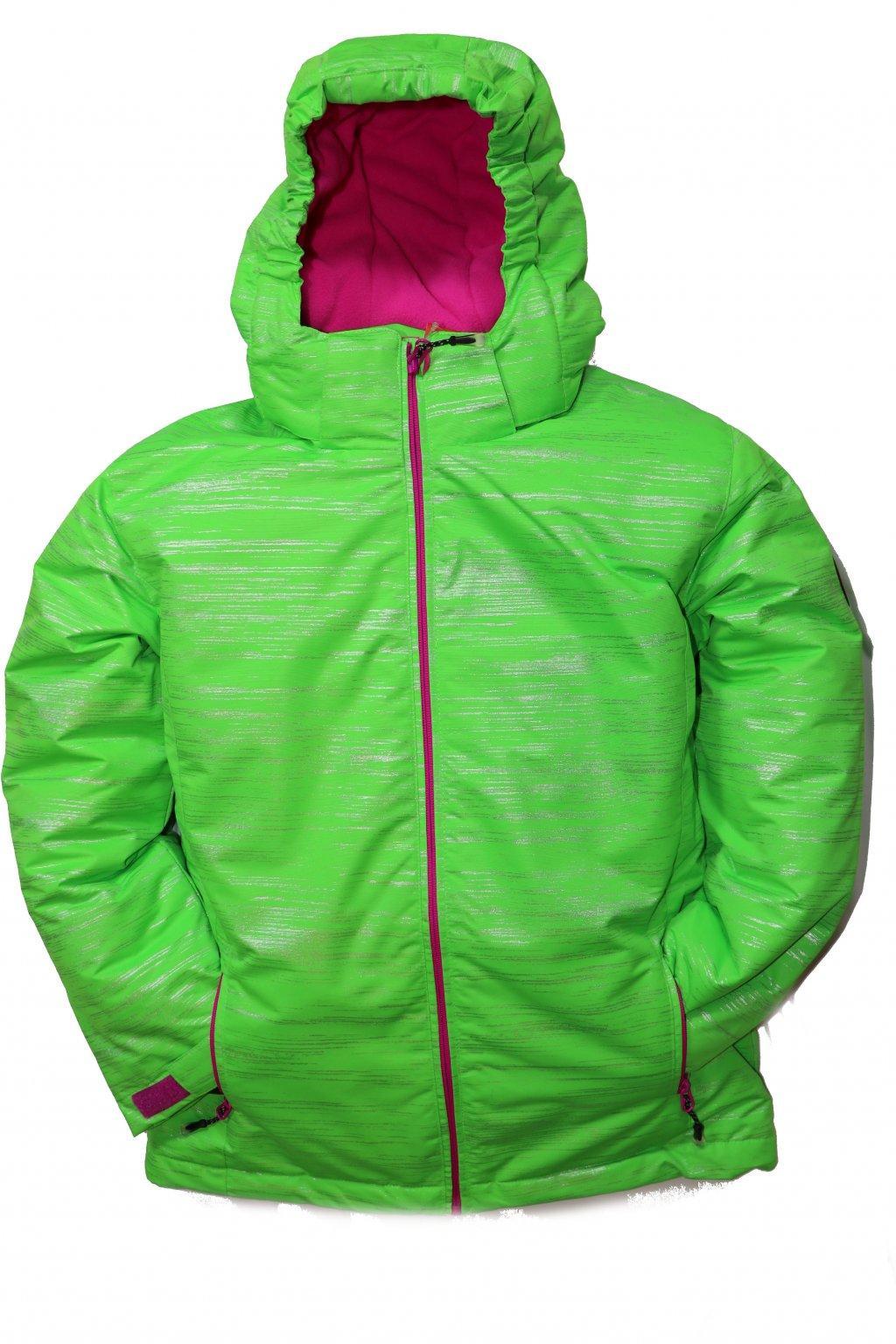 Dětská zimní bunda volného střihu HA04-M2 zelená vel. 134-164 cm
