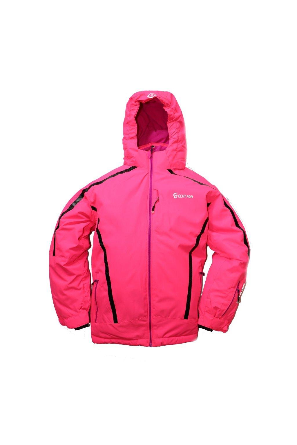 Dětská zimní bunda volného střihu HA01-M2 růžová vel. 134-164 cm