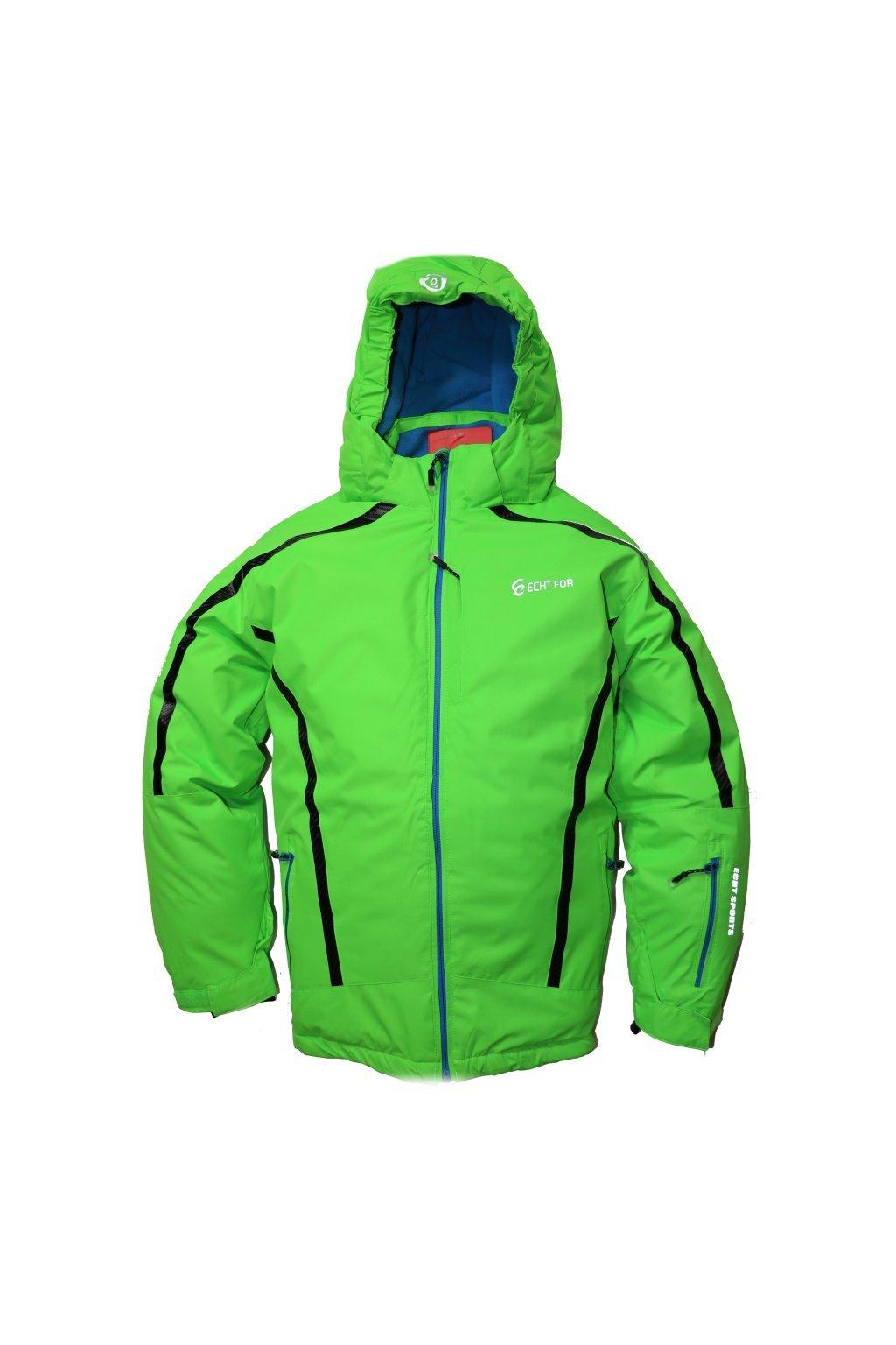 Dětská zimní bunda volného střihu HA01-M2 zelená vel. 134-164 cm