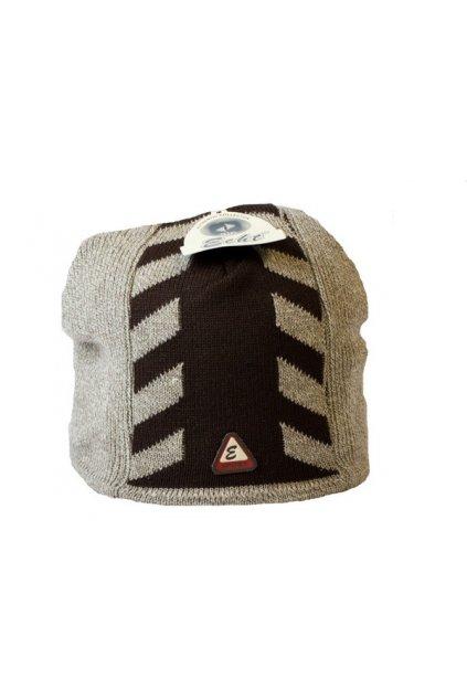 Pánská čepice F062 černo-šedá