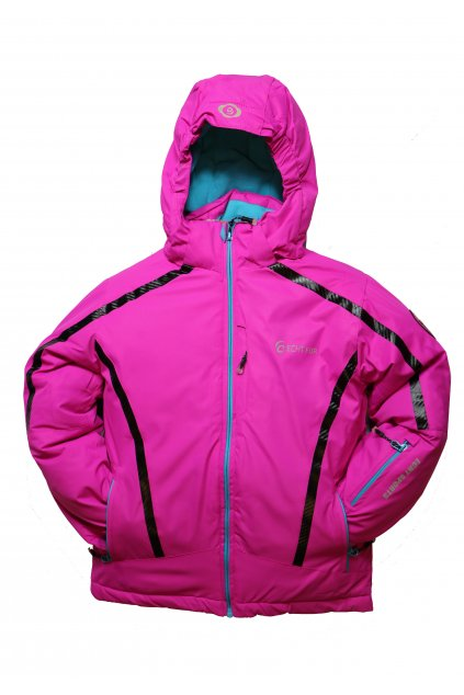 Dětská zimní bunda HA01-M1 fialová vel. 104-134 cm