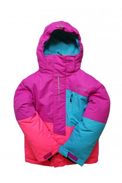 Dětská lyžařská bunda HA03-M1 fialová vel. 104-134 cm