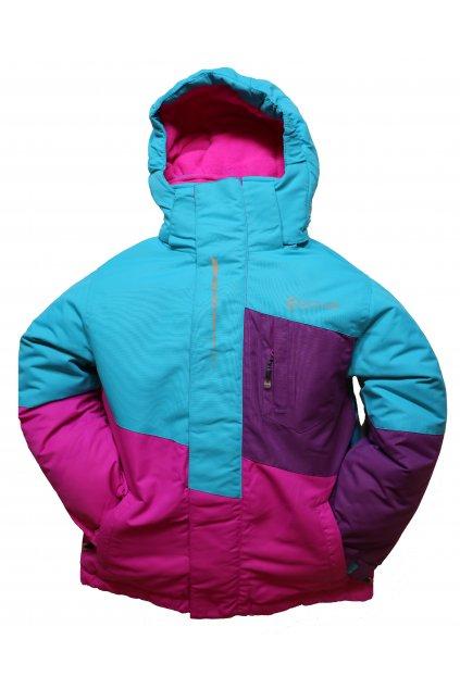 Dětská lyžařská bunda HA03-M1 tyrkysová vel. 104-134 cm