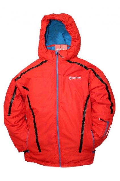 Dětská zimní bunda HA01-M2 červená vel. 134-164 cm