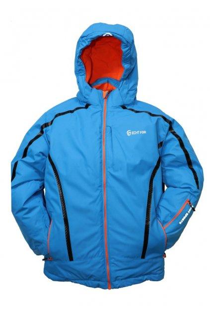 Dětská zimní bunda volného střihu HA01-M2 modrá vel. 134-140 cm