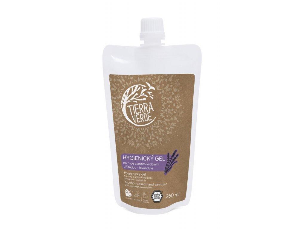 hygienicky gel na ruce levandule sacek 250 ml 01750 0001 bile samo w