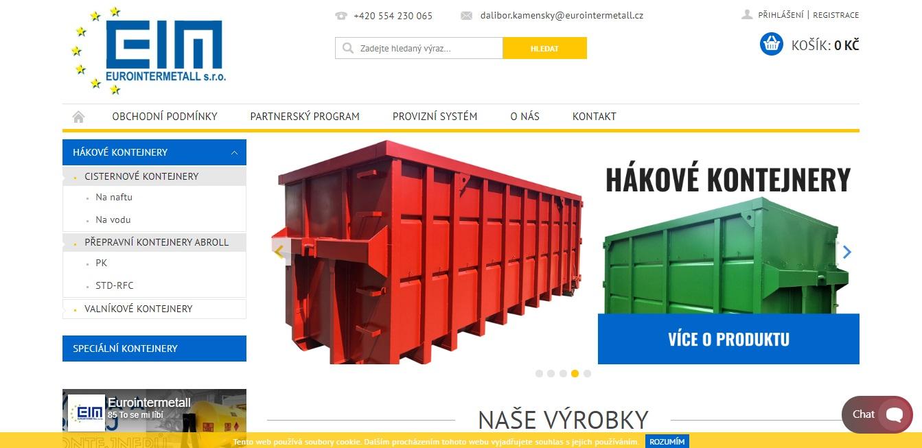 Hákové kontejnery - Eurointermetall