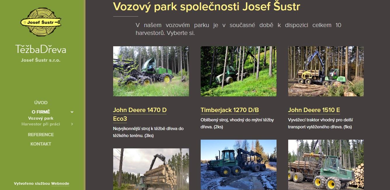Těžba dřeva Šustr