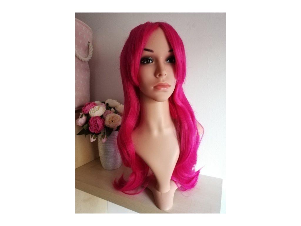 Izabel - dlouhá růžová paruka