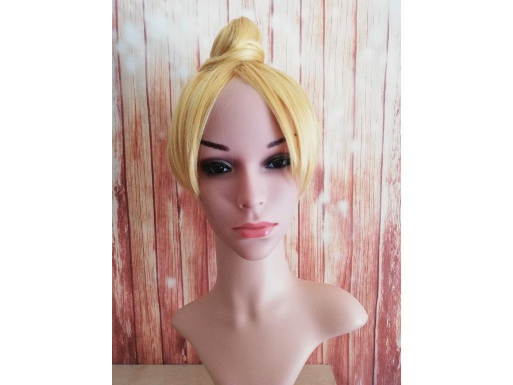 Tinker Bell - cosplay krátká žlutá blond paruka