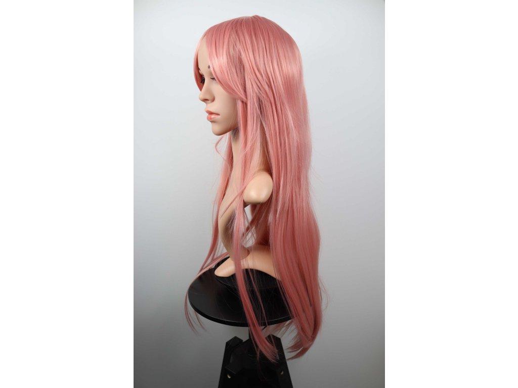 Emily - dlouhá staro růžová paruka
