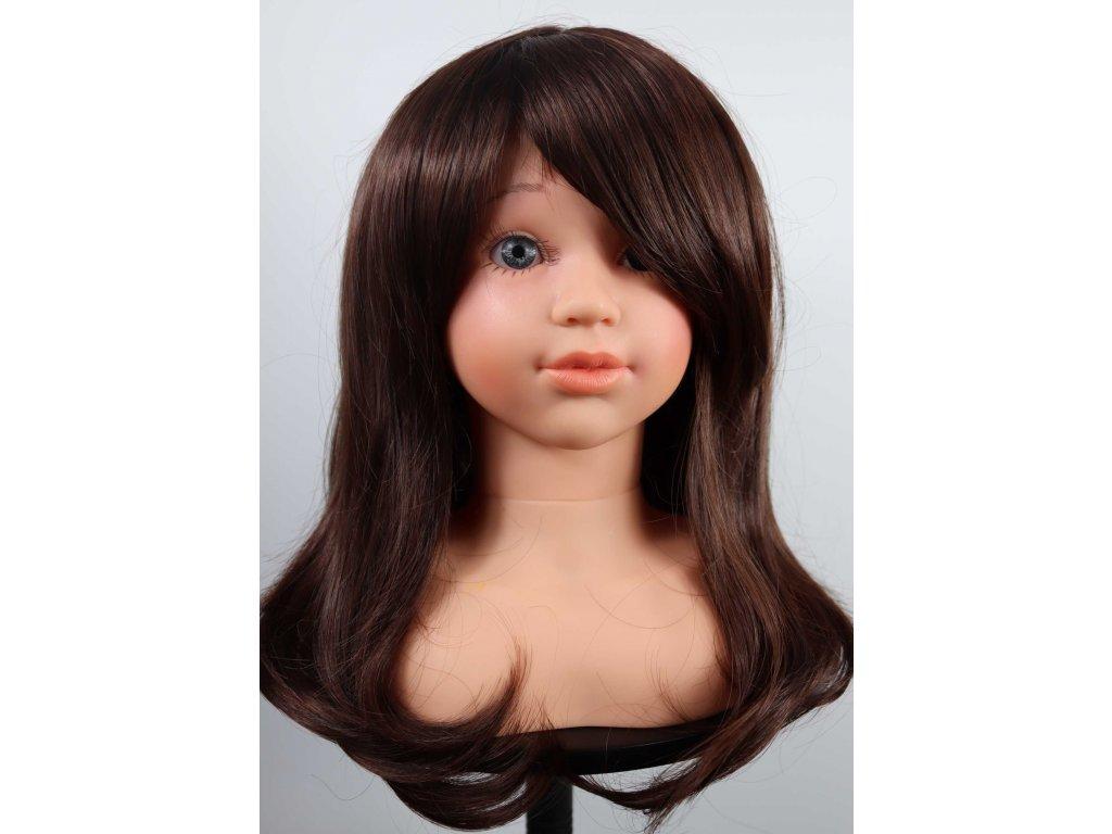 Anetka - polodlouhá černá dětská paruka