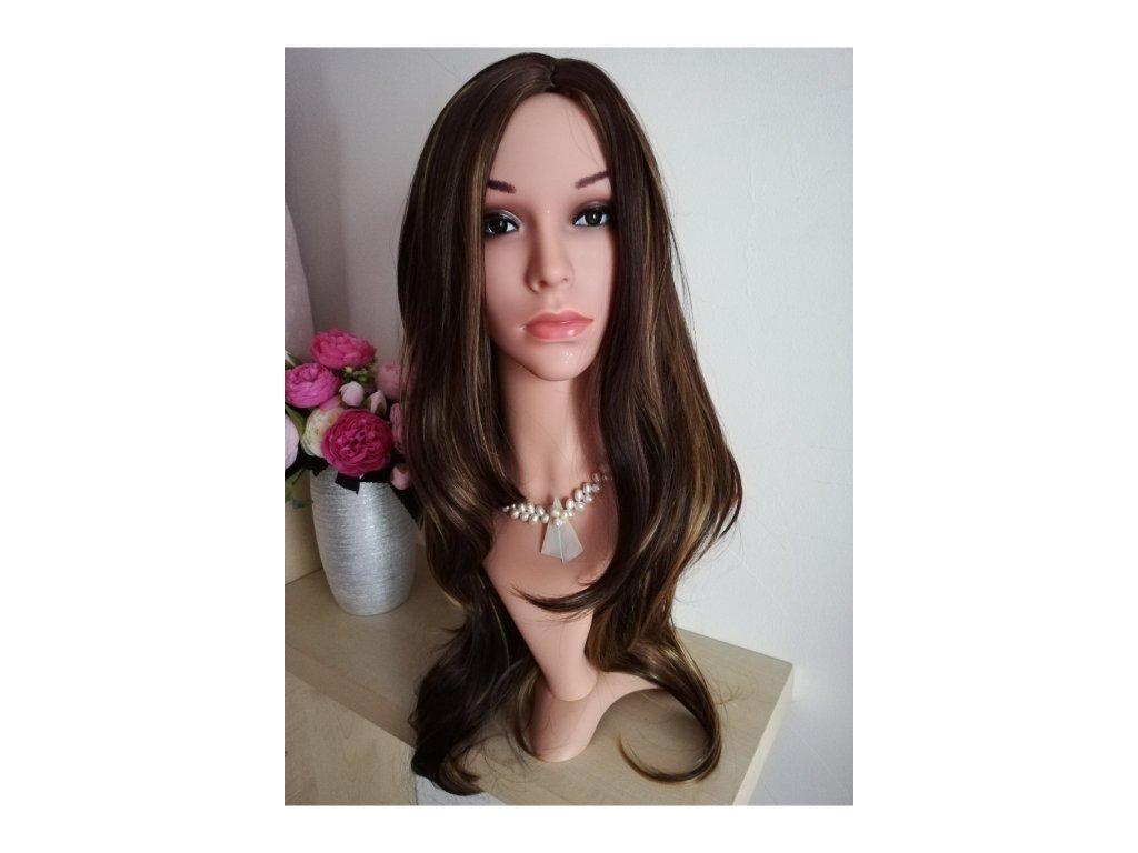 Kamila - dlouhá hnědá paruka