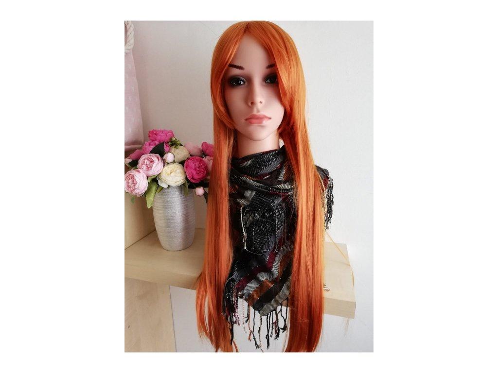 Emily - dlouhá zrzavá paruka