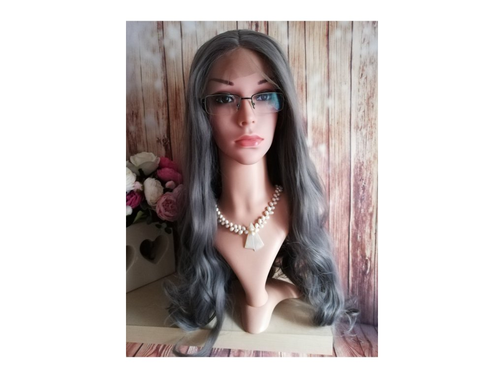 Samantha - lace front šedá paruka