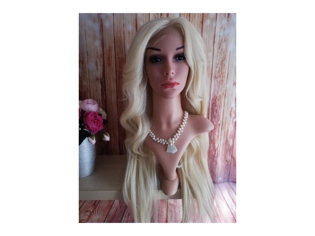 Lucy - lace front světlá blond paruka
