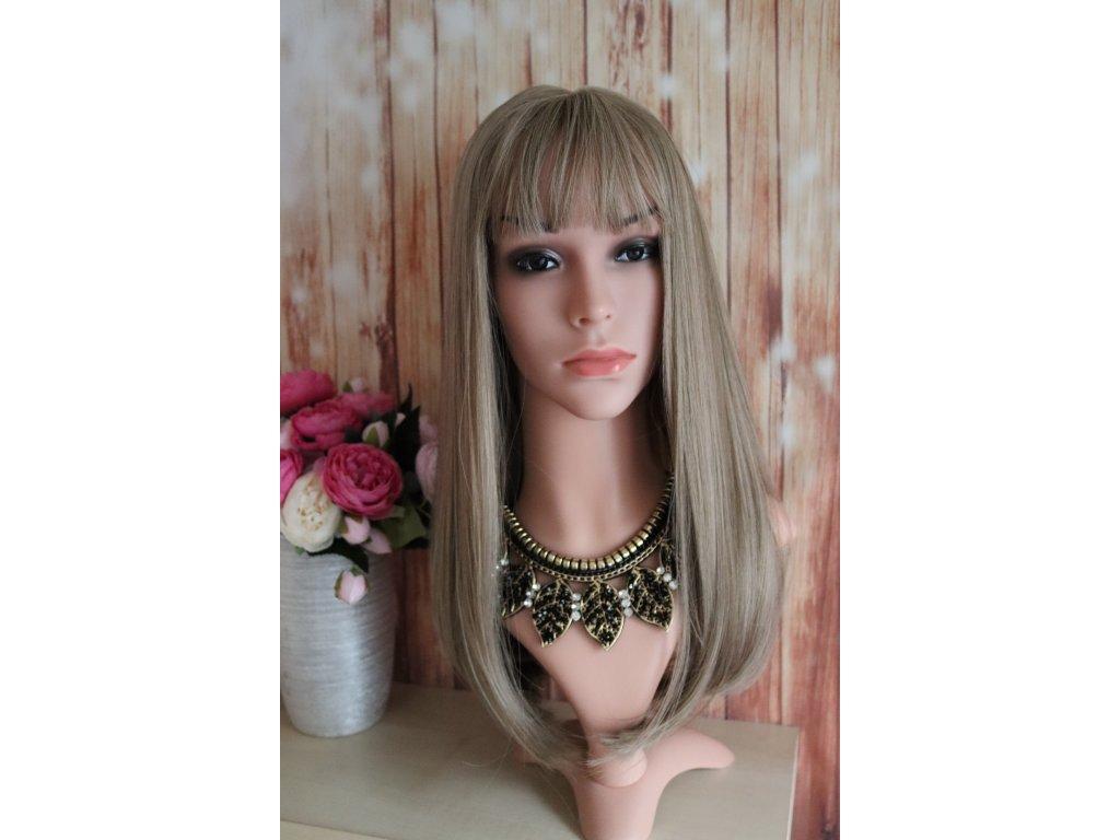 Mary - dlouhá blond paruka s melírem