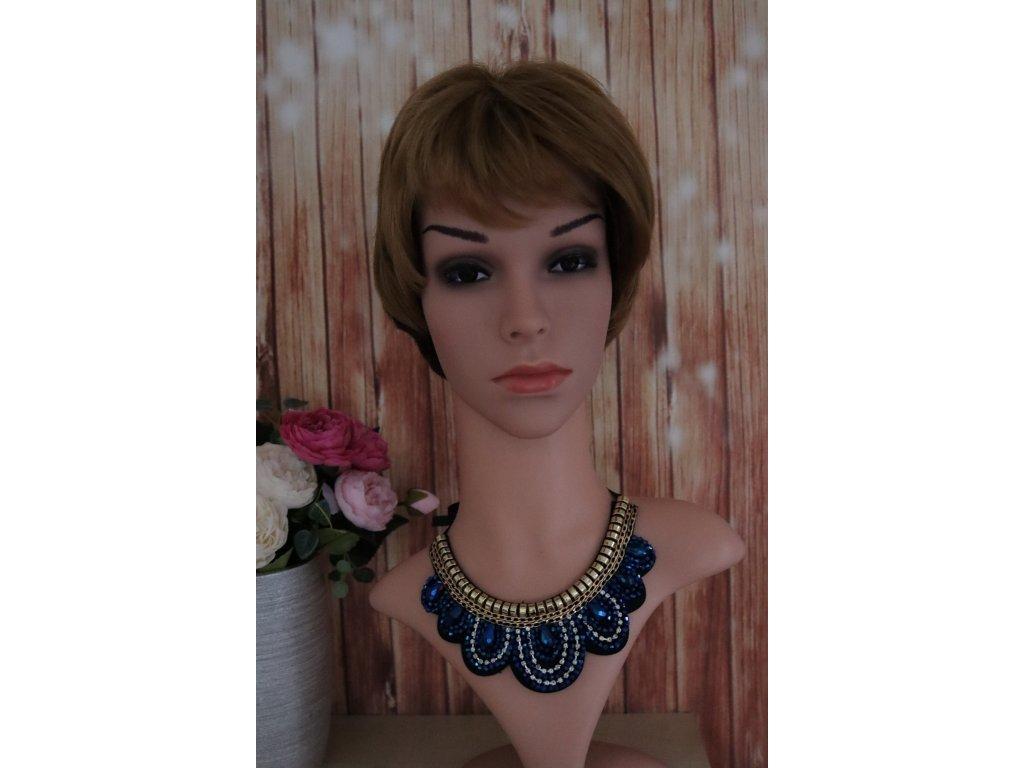 Valentina - krátká melirovaná blond paruka