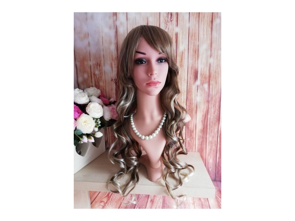 Olivia - dlouhá blond kudernatá vlnitá paruka