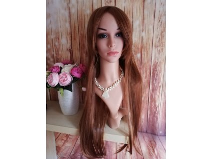 Emily - dlouhá hnědá paruka