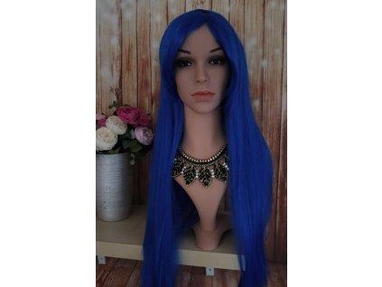 Emily - dlouhá modrá paruka