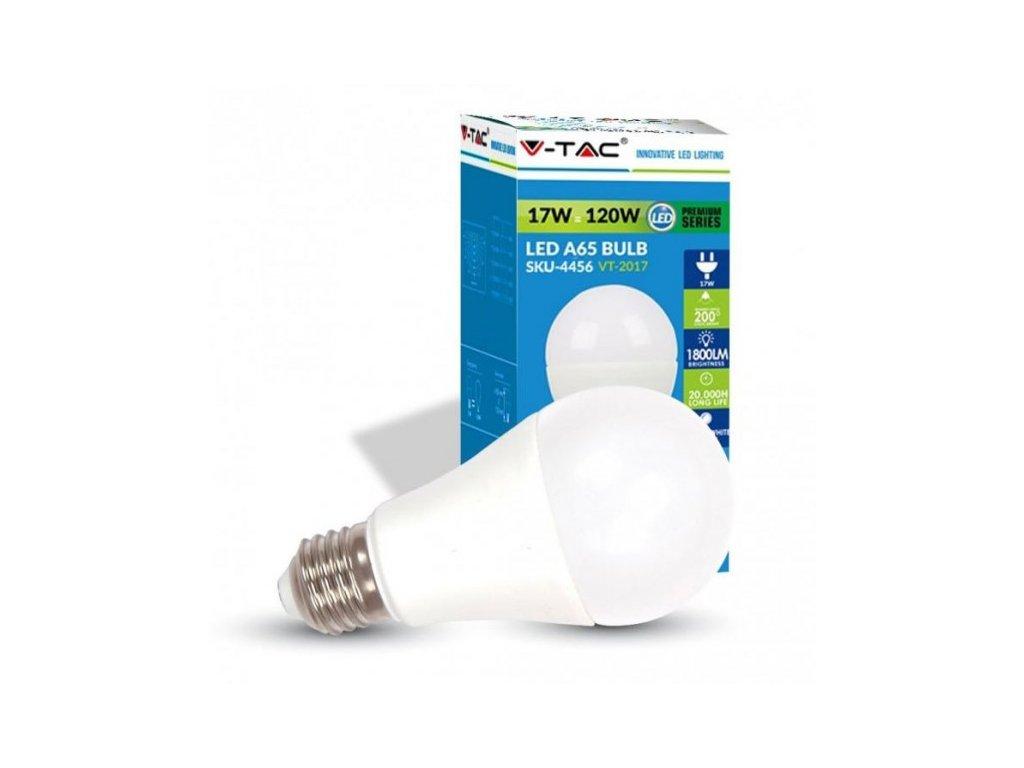 V-TAC LED žárovka E27 / 1800lm 17W neutrální bílá