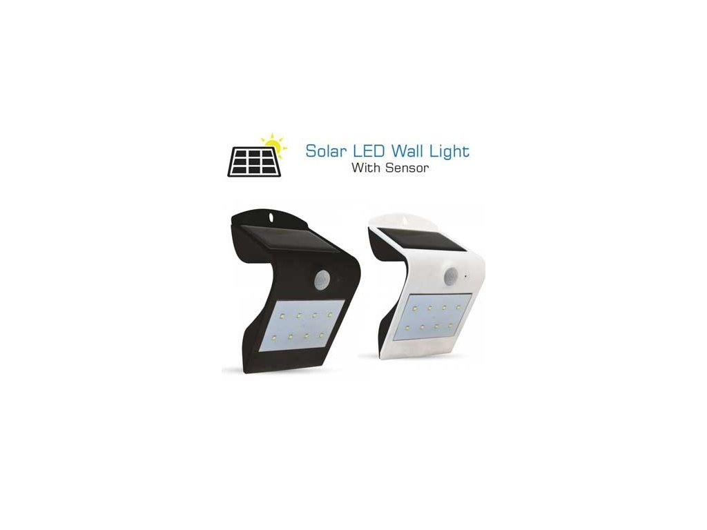 v tac vt 767 1 5w led solar wall light for external ip65 3000 4000k pir sensor mod vt 767 b1b