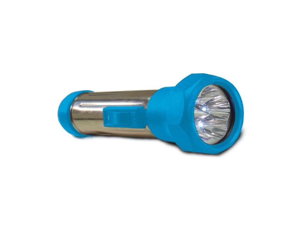 baterka svitilna 5led modra