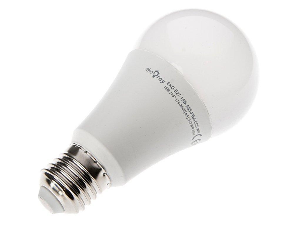 V-TAC LED žárovka E27 A65 15W 220-240V teplá bílá