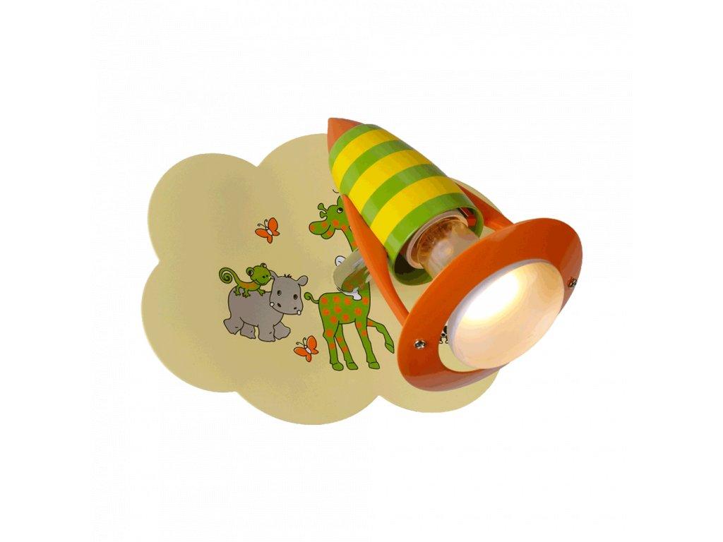 PREZENT 28012 SAFARI dětské nástěnné bodové svítidlo