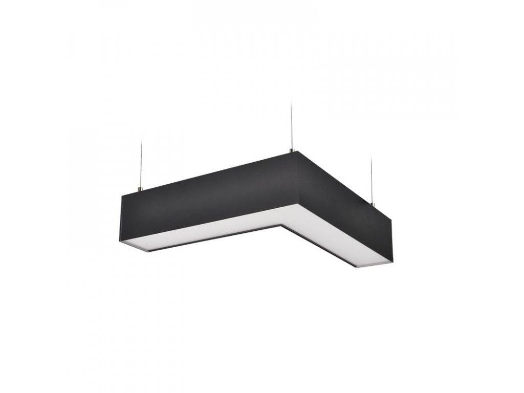 WPR-18W-002 Solight LED lineární závěsné osvětlení, L konektor 18W, 1500lm, Lifud, 3 roky záruka, černá barva