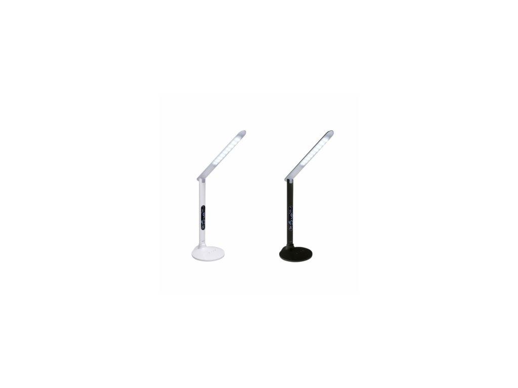 PANLUX TESSA PN23300002 designová multifunkční stolní LED lampa s displejem, bílá