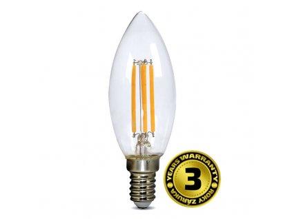 WZ401A Solight LED žárovka retro, svíčka 4W, E14, 3000K, 360°, 440lm